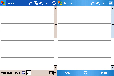 Windows Mobile 2003 SE Side By Side With Windows Mobile 5.0