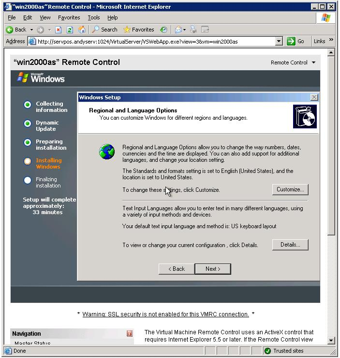 Installing Windows Server 2003 Through a Web Page is Easy