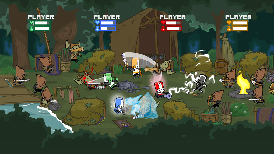 4-Player Brawling in Castle Crashers