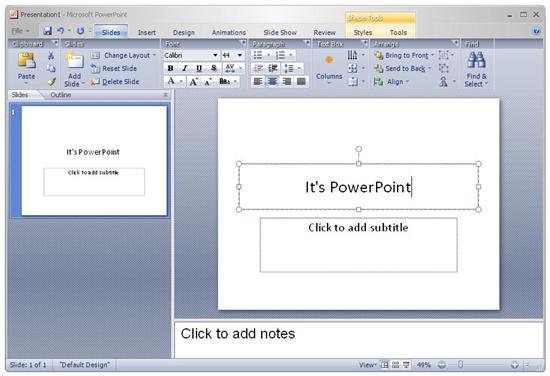 Introducing PowerPoint 12