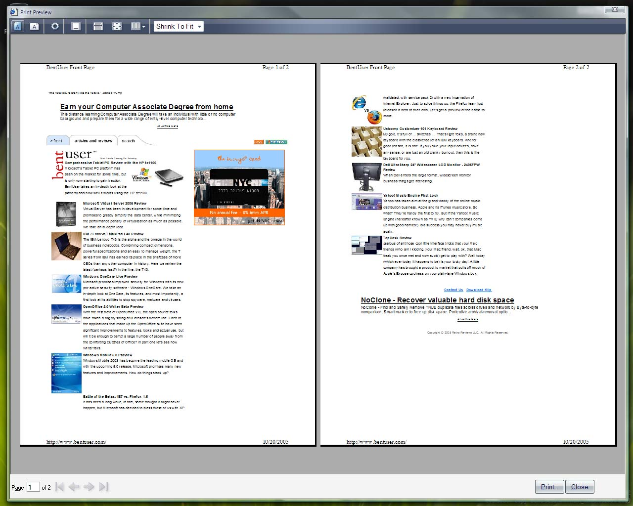 IE7 revised print preview